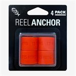 Fire Red Reel Anchor Wraps - 4 Wrap Bands per Pack